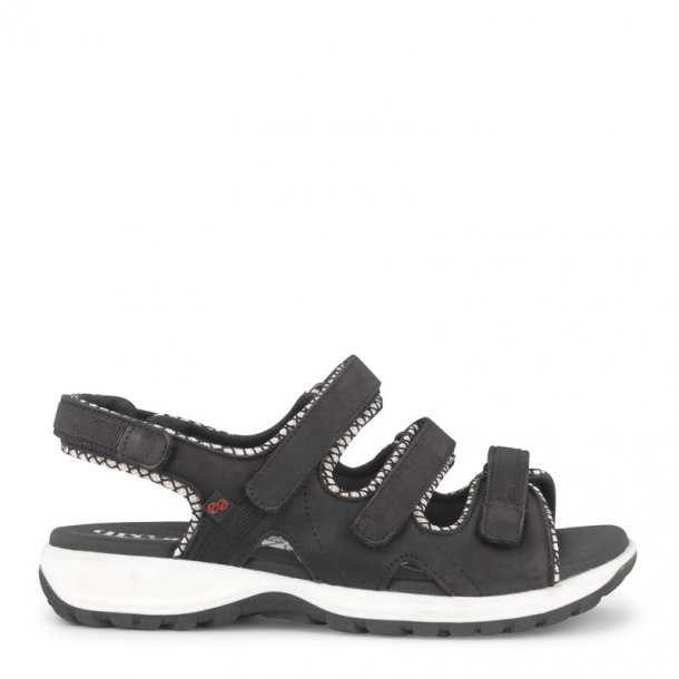 Green Comfort - Camino sandal m/3 velcro remme - Sort