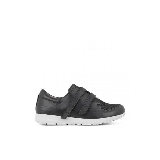 New Feet - Sporty sko med velcro - Sort