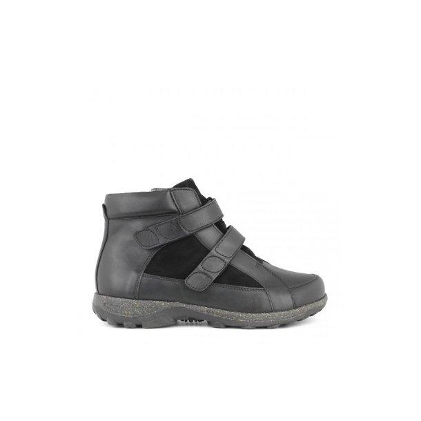 Støvle med velcro - sort - 172-22-210