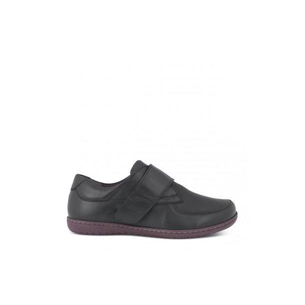 736cfe4005e Klassisk sko med bred velcro- sort - 172-40-210 - Dame sko/støvler ...
