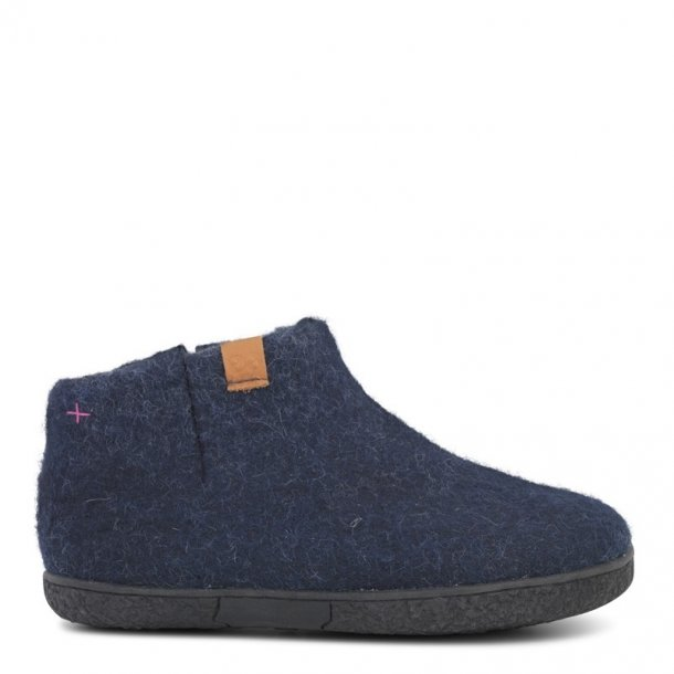 Green Comfort - Korte Uldstøvler med gummisål - Blå