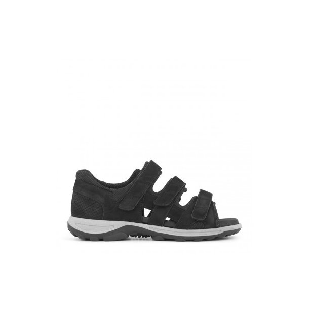Sandal med lukket stabil hælkappe - Sort - 181-20-310