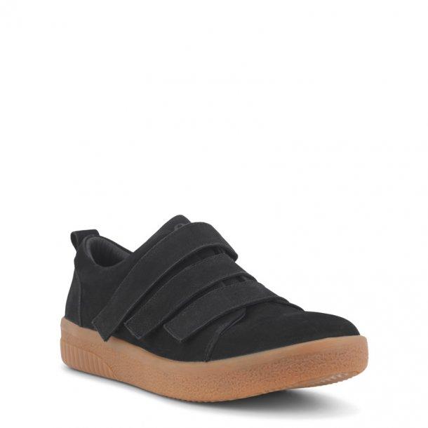 Green Comfort - Karina sko med velcro - Sort