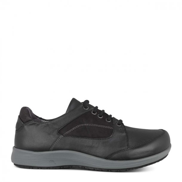 New Feet - Klassisk læder-sko med snøre - Sort