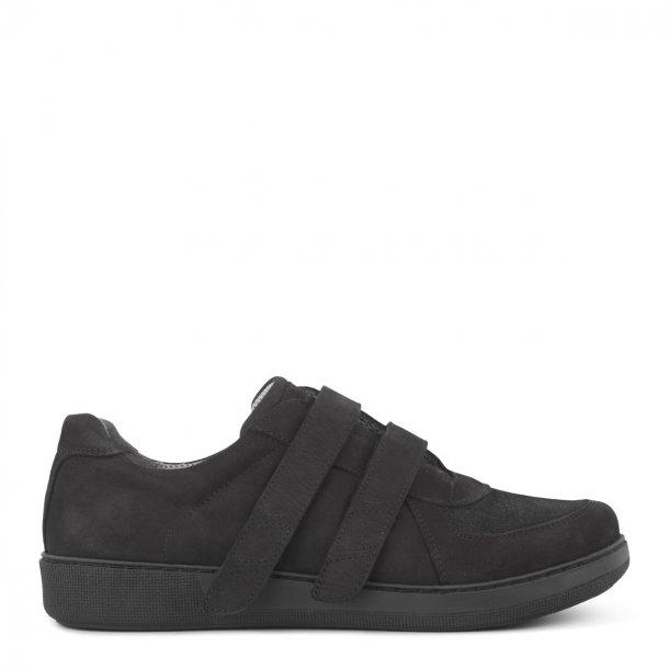 New Feet - Klassisk sko med bred velcro - Sort