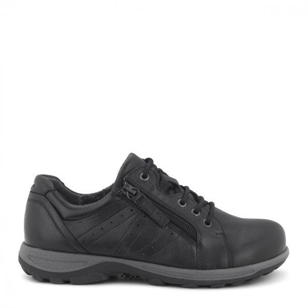 Sko med lynlås, glat læder- 192-64-110