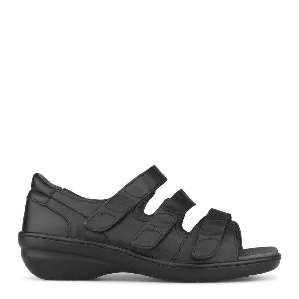 64032d9c0890 Sandal med hælkappe - Sort - 151-20-110 - Dame sandaler - Boisen