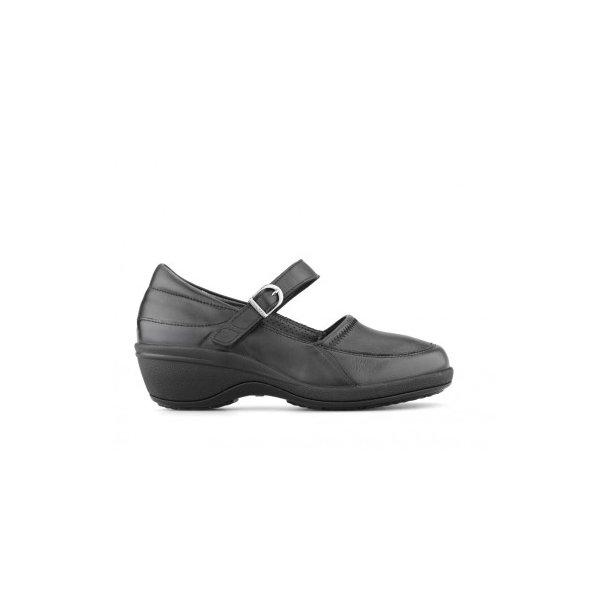 Ballerina med lille hæl - Sort - 152-21-210