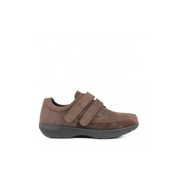 New Feet - Herresko m/velcro og gængesål - Brun