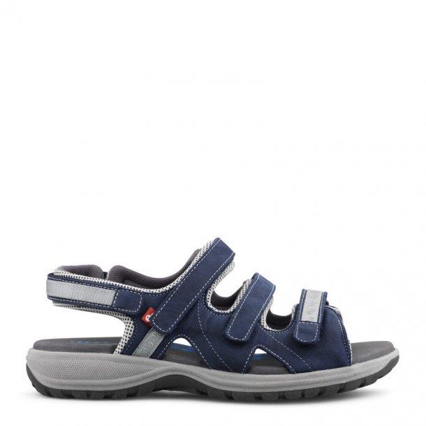 Green Comfort - Camino sandal m/3 velcro remme - Blå
