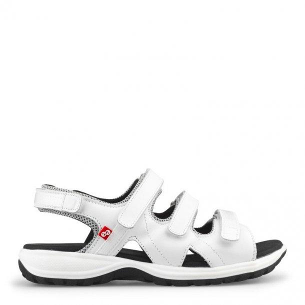 Sandal m/3 velcro remme Hvid 13124