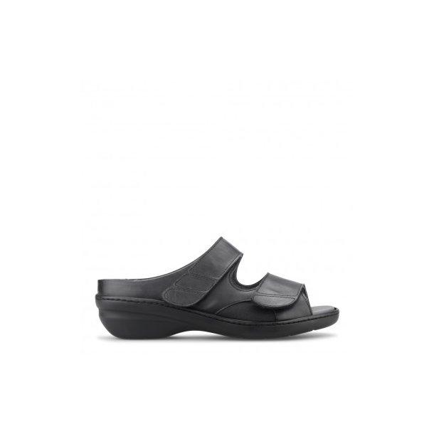 d3524f4e1f77 Sandal med lille hæl - Sort - 101-90-110 - Dame sandaler - Boisen