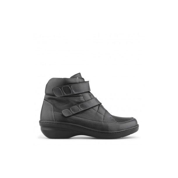 New Feet - Dame Støvle m/remme, Sort