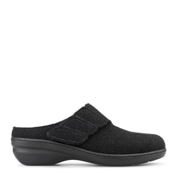 New Feet - Hjemmesko med lille hæl - Sort