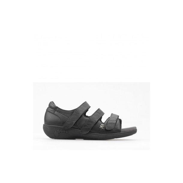 Sandal med hælkappe - Sort - 71-23-110
