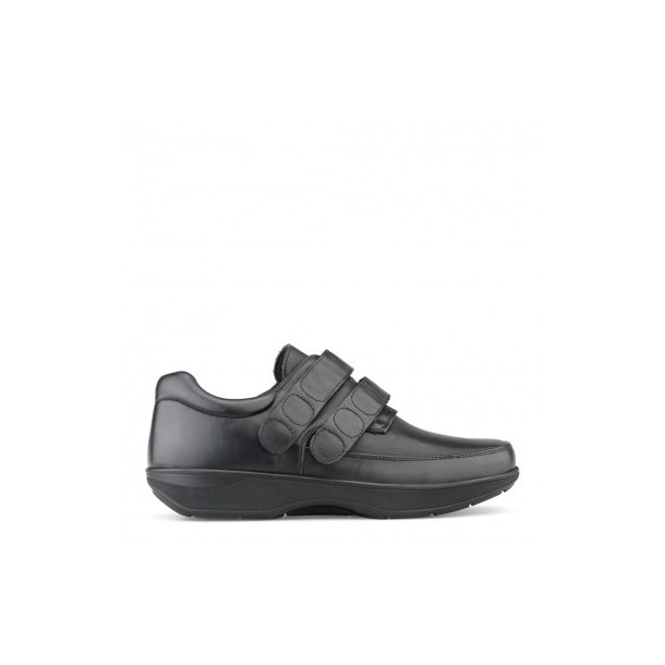 0cf0807504a Herresko med dobbelt velcro lukning - Sort - 81-47-210 - Herre sko ...